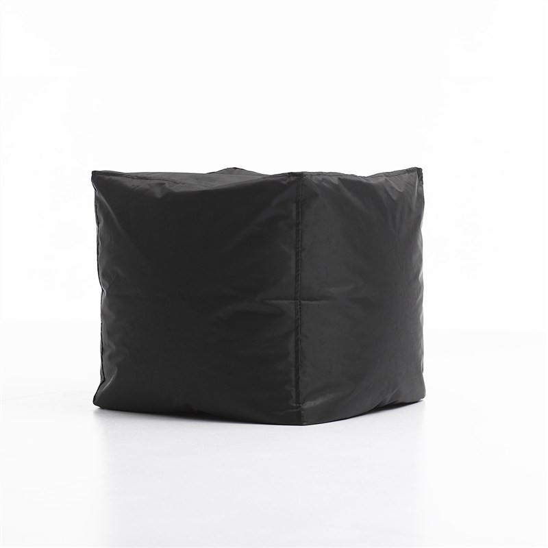Kalahari Outdoor Cube Ottoman Bean Bag Cover, Black