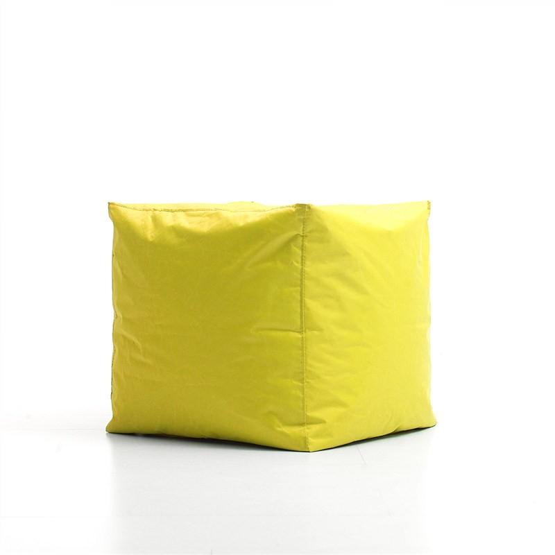Kalahari Outdoor Cube Ottoman Bean Bag Cover, Yellow