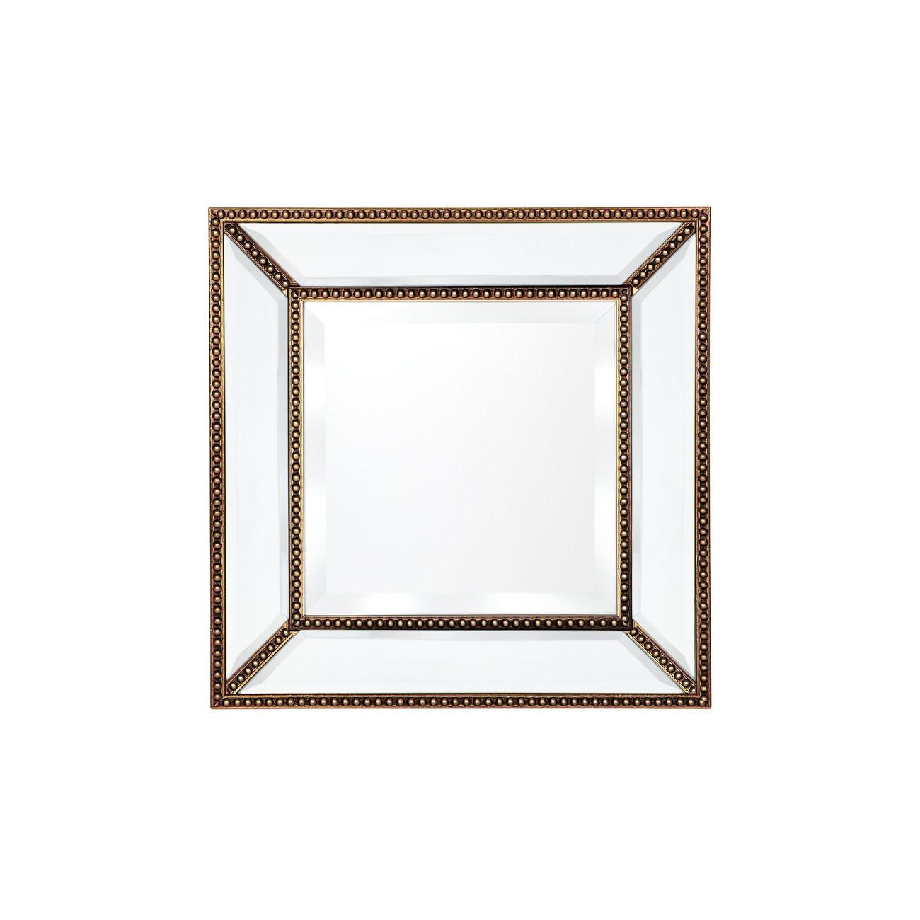 Zeta Wall Mirror, 38cm, Antique Gold