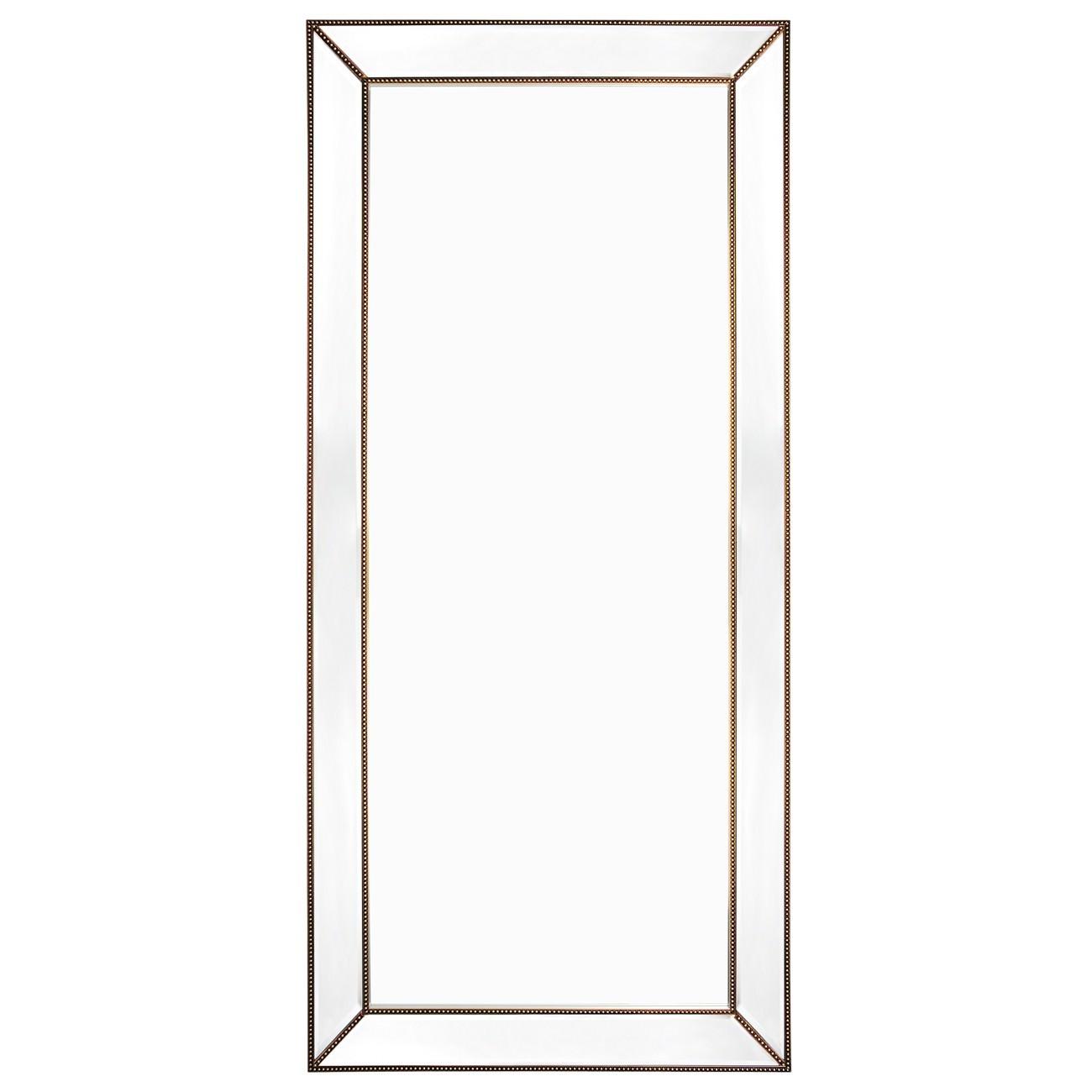 Zeta Floor Mirror, 200cm, Antique Gold
