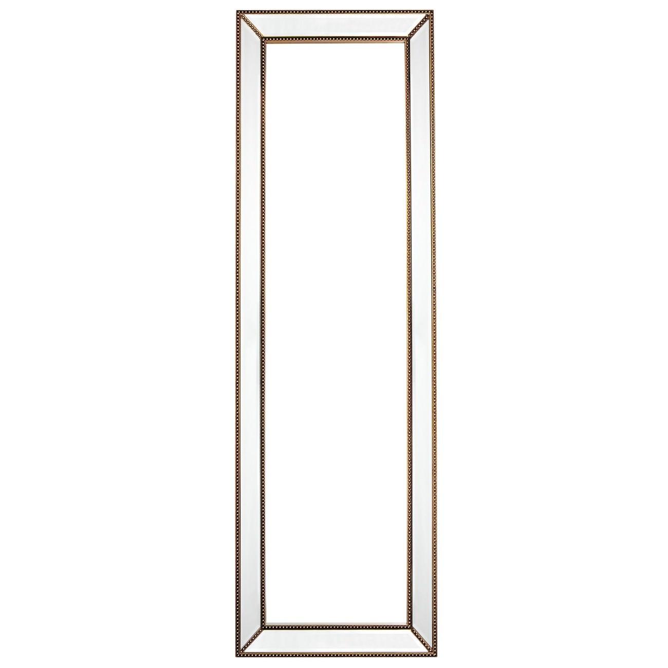 Zeta Cheval Mirror, 155cm, Antique Gold