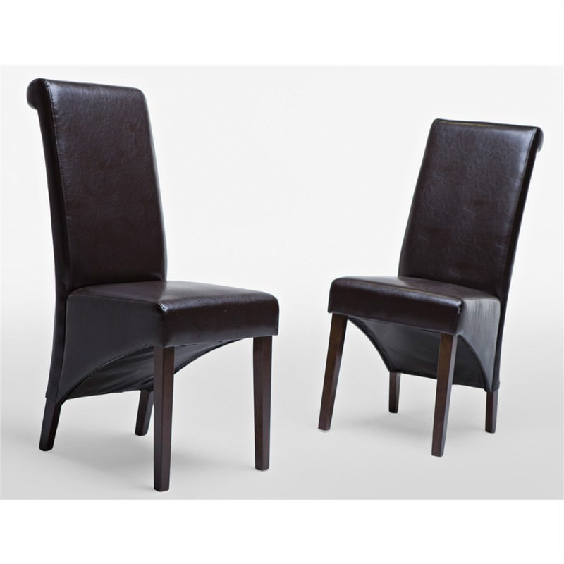 Toledo Chair in Brown (Set of 2)