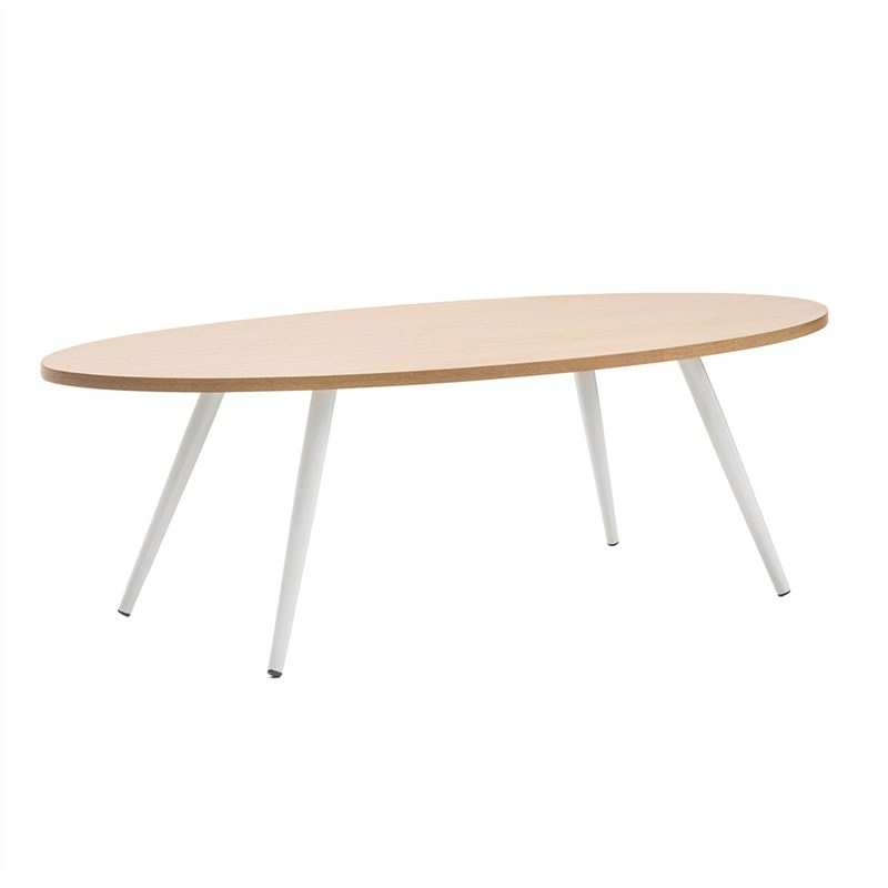 Dizzy 120cm Oval Coffee Table - White