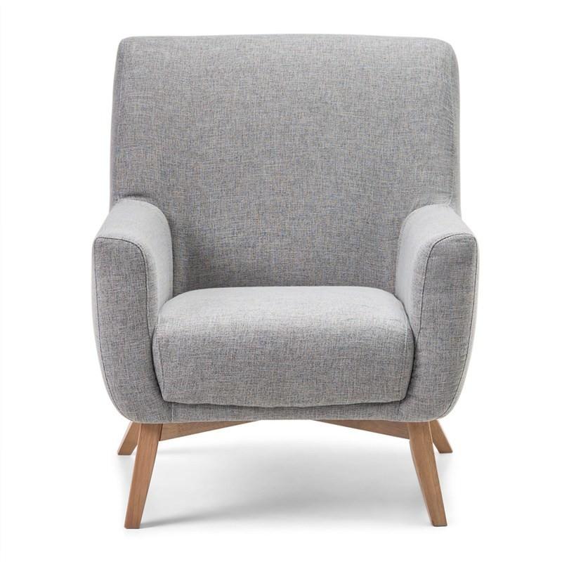 Asta Fabric Upholstered Armchair - Grey