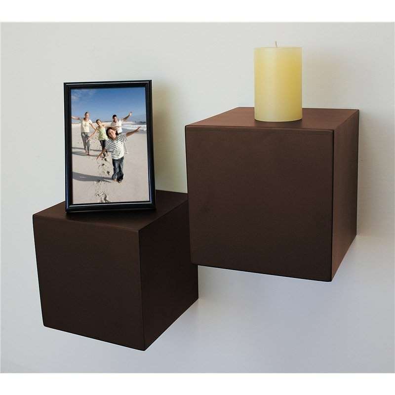 Block floating shelf in ESPRESSO