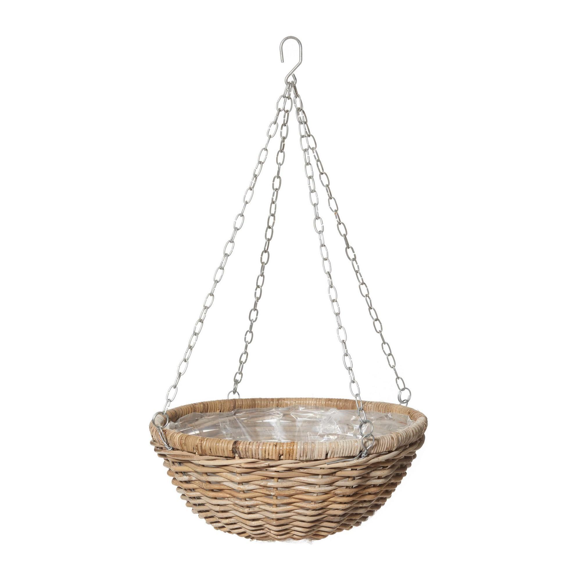 Maysa Hanging Wicker Bowl Planter