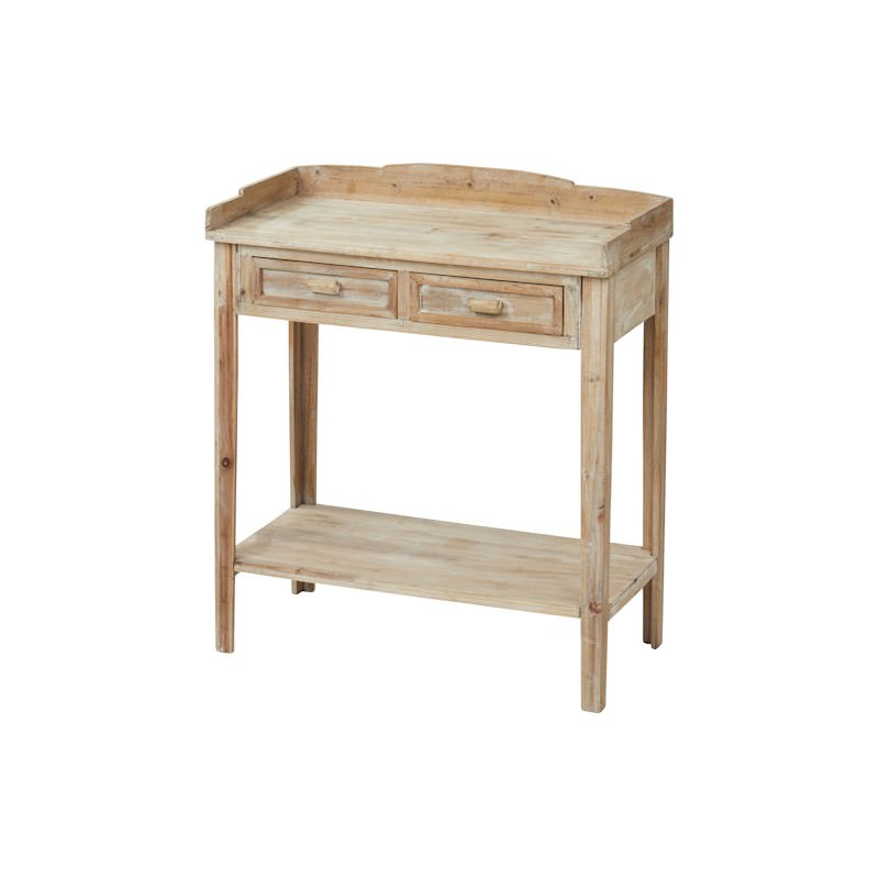 Brotchie Fir Timber 2 Drawer Potting Table, 80cm