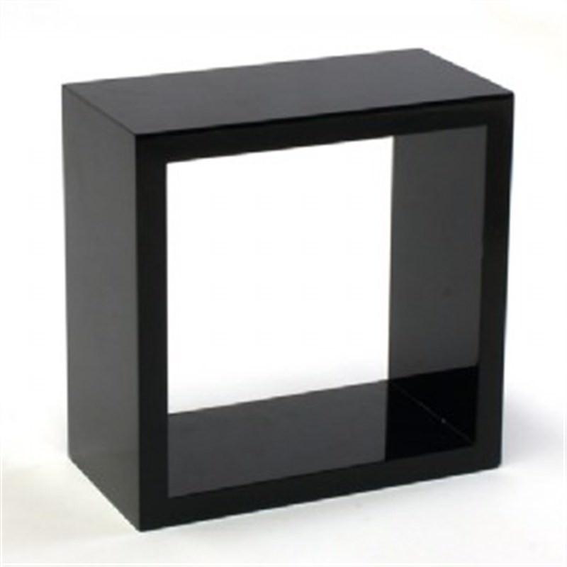 Wall Kube shelf in High Gloss Black