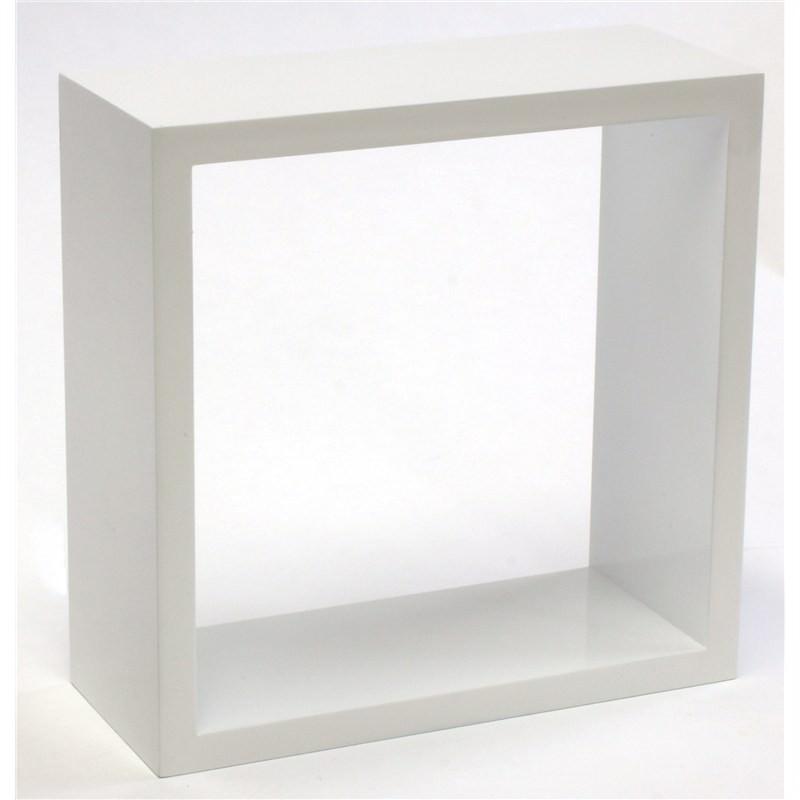 Wall Kube shelf in High Gloss White