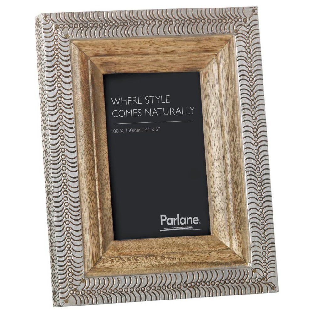 Muncie Mango Wood & Metal Photo Frame, 4x6""