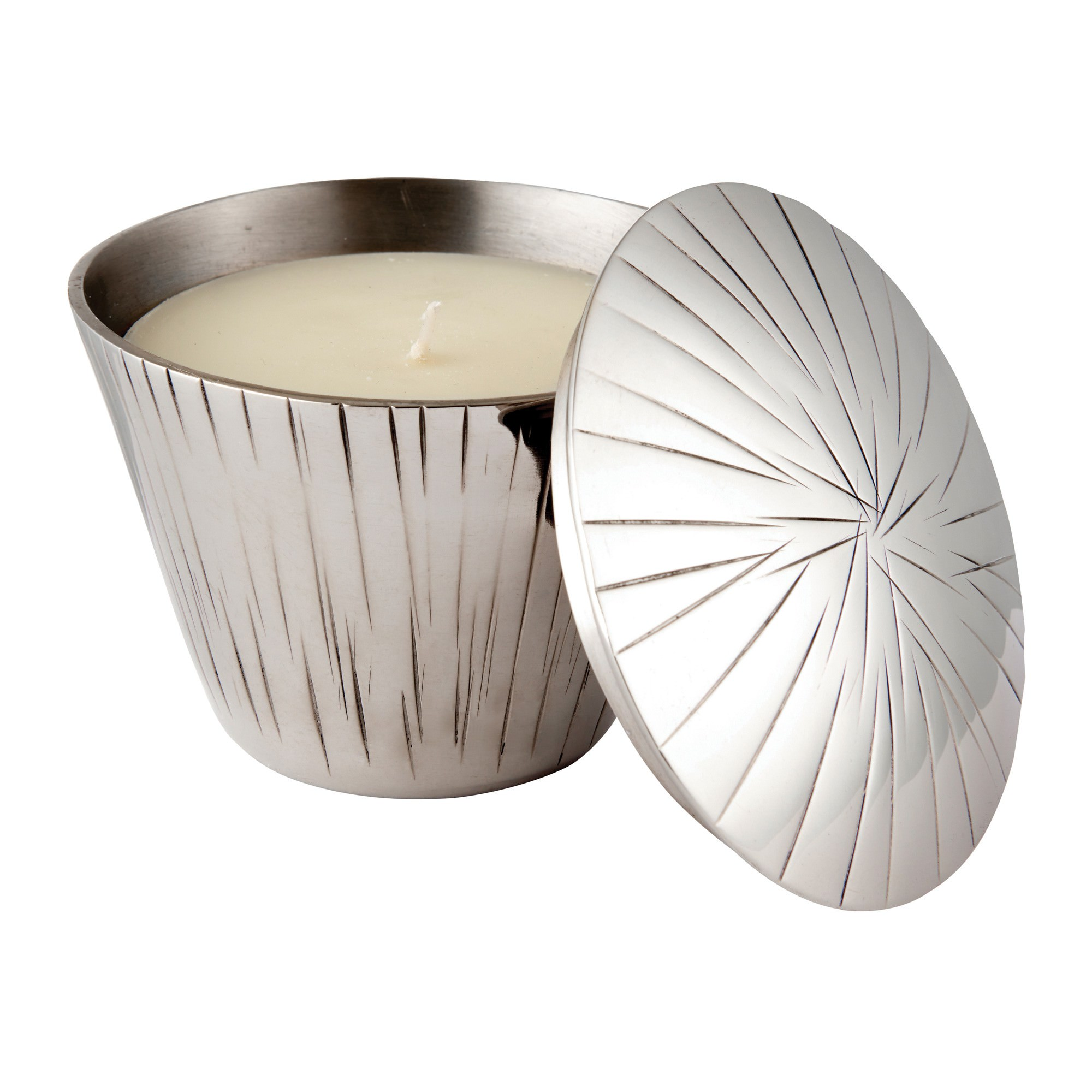 Charlie Scented Candle with Metal Candle Holder, Day Spa