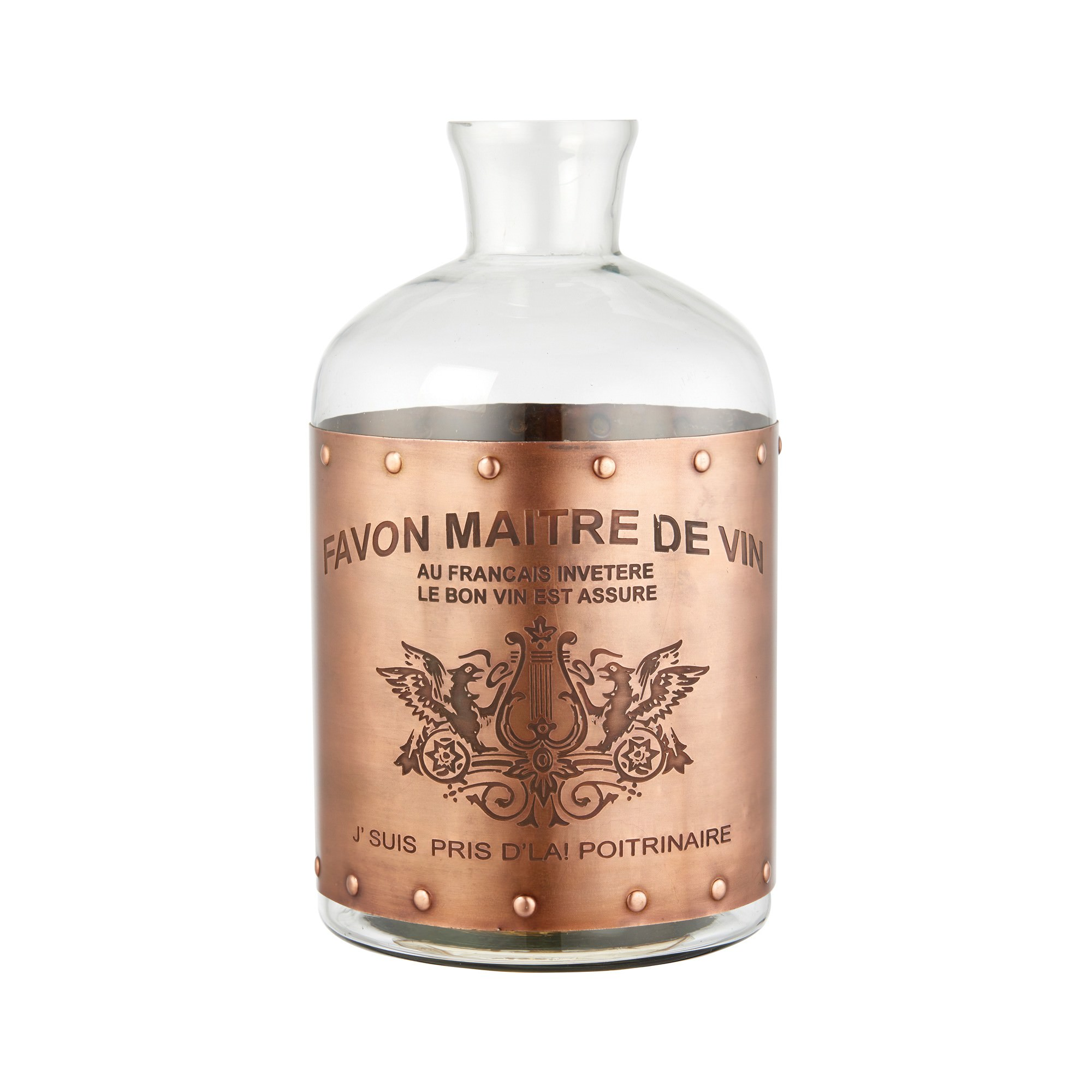 Axel Glass Bottle Vase, Medium