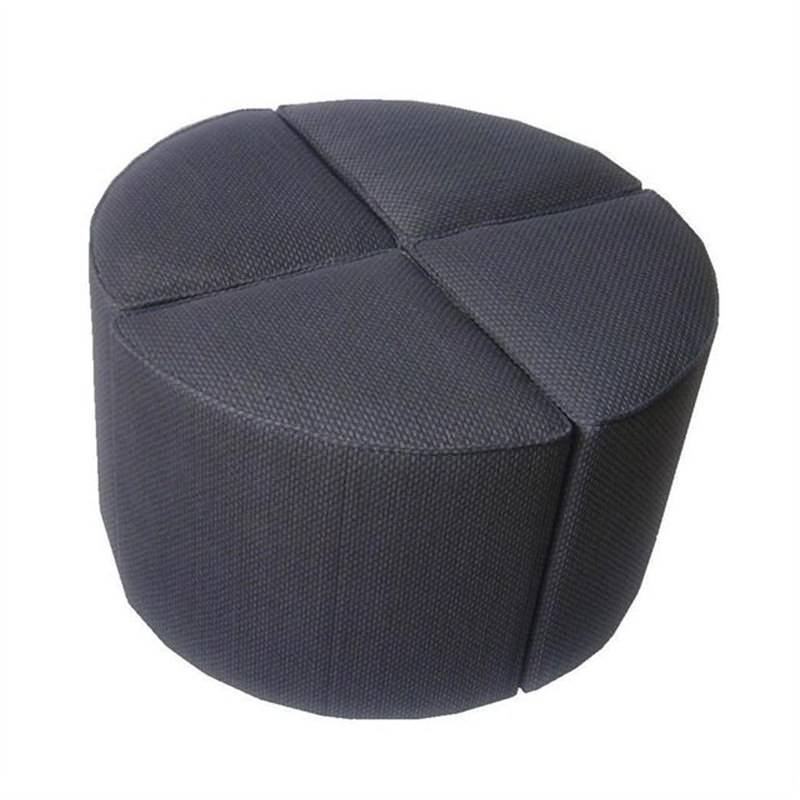 Four Wedges Ottoman In Slate