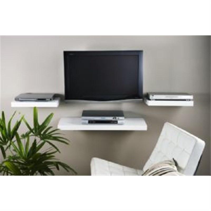 High Gloss  Media Shelf in White