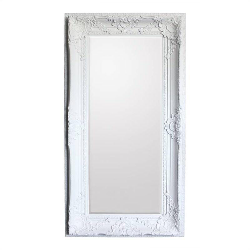Walter Leaner Floor Mirror, 180cm, Cream