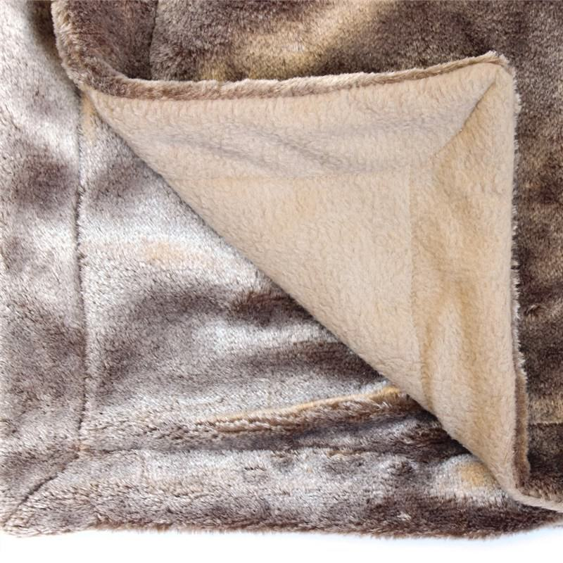 Kilburn & Scott Grizzly Faux Fur Throw, Chocolate
