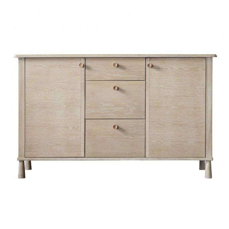 Willem Oak Timber 2 Door 3 Drawer Sideboard, 140cm, Natural