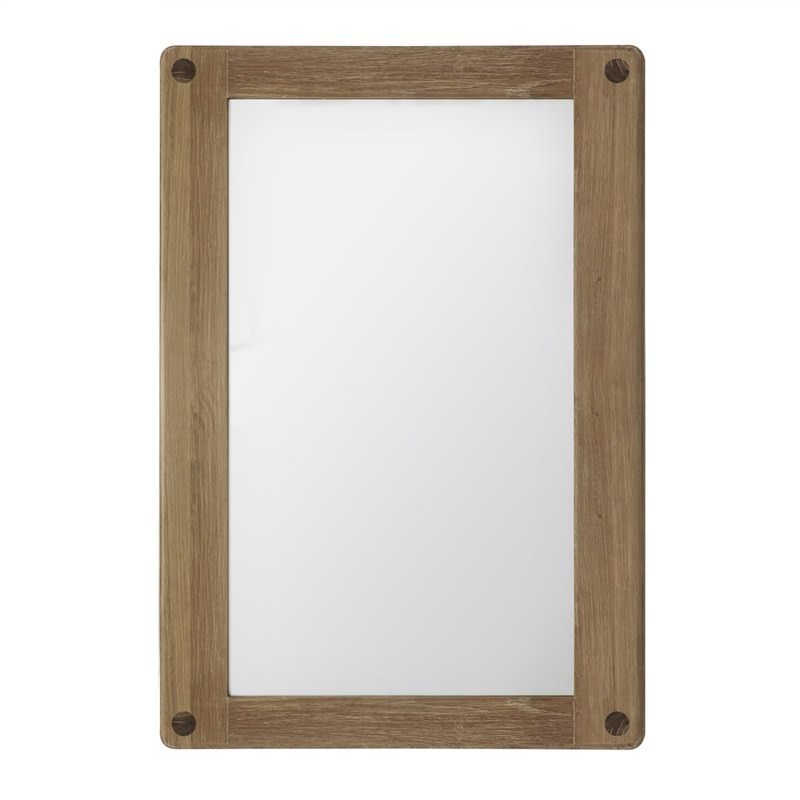 Willem Oak Timber Wall Mirror, 100cm, Natural