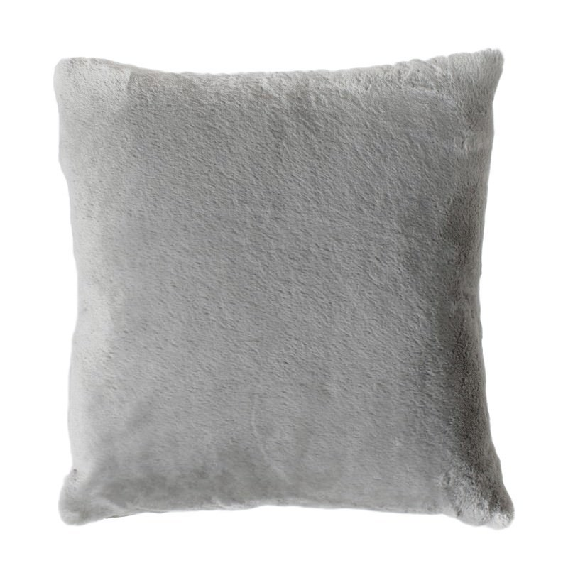 Kilburn & Scott Faux Rabbit Double Sided Cushion, Grey