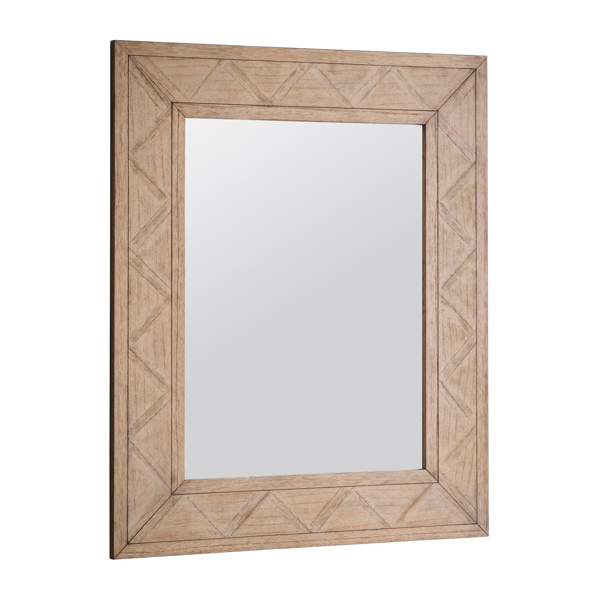 Mirren Mindi Wood Frame Wall Mirror, 110cm