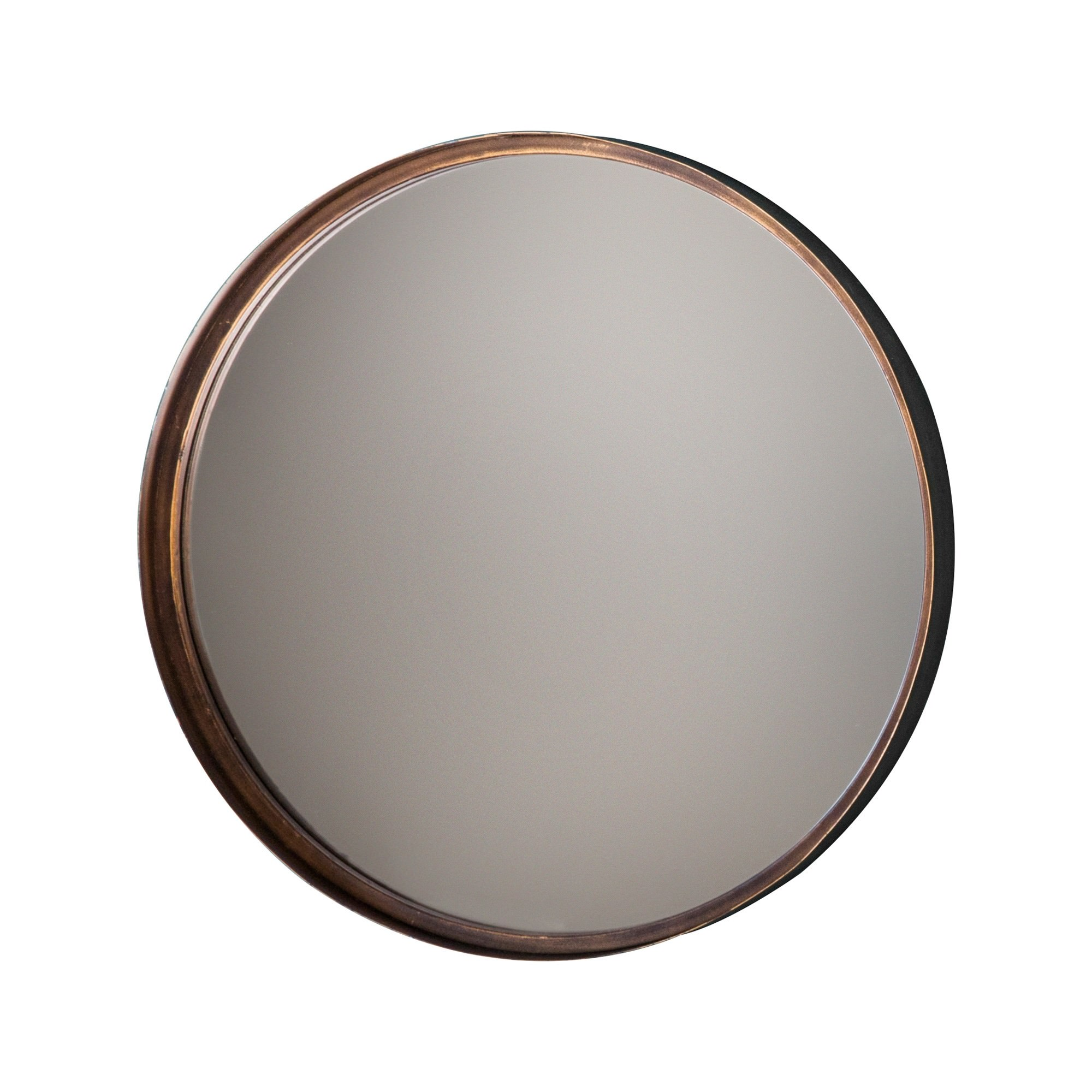 Metal Frame Round Wall Mirror, 30.5cm