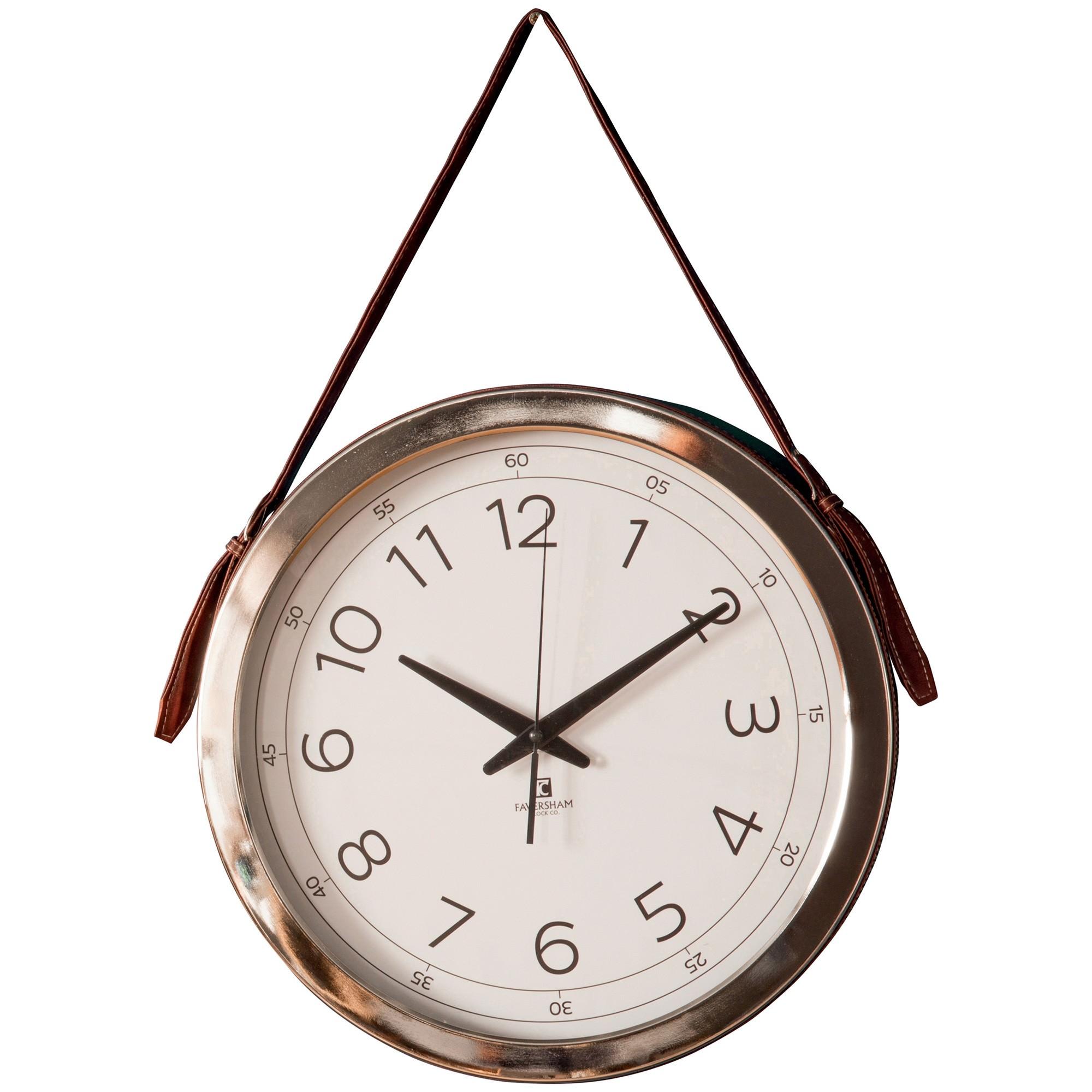 Yalding Metal Round Hanging Wall Clock, 40cm