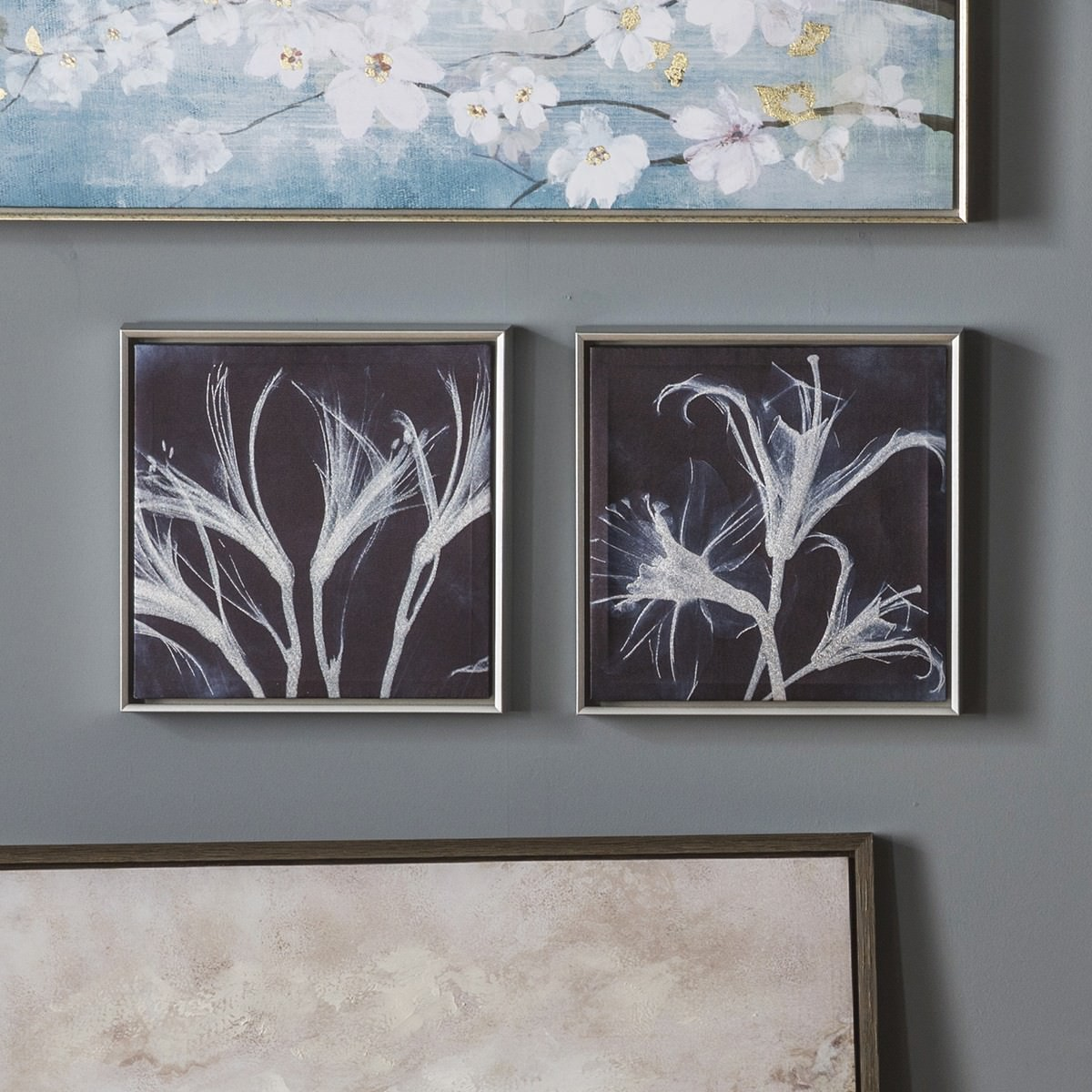 Into Floral 2 Piece Framed Wall Art Set