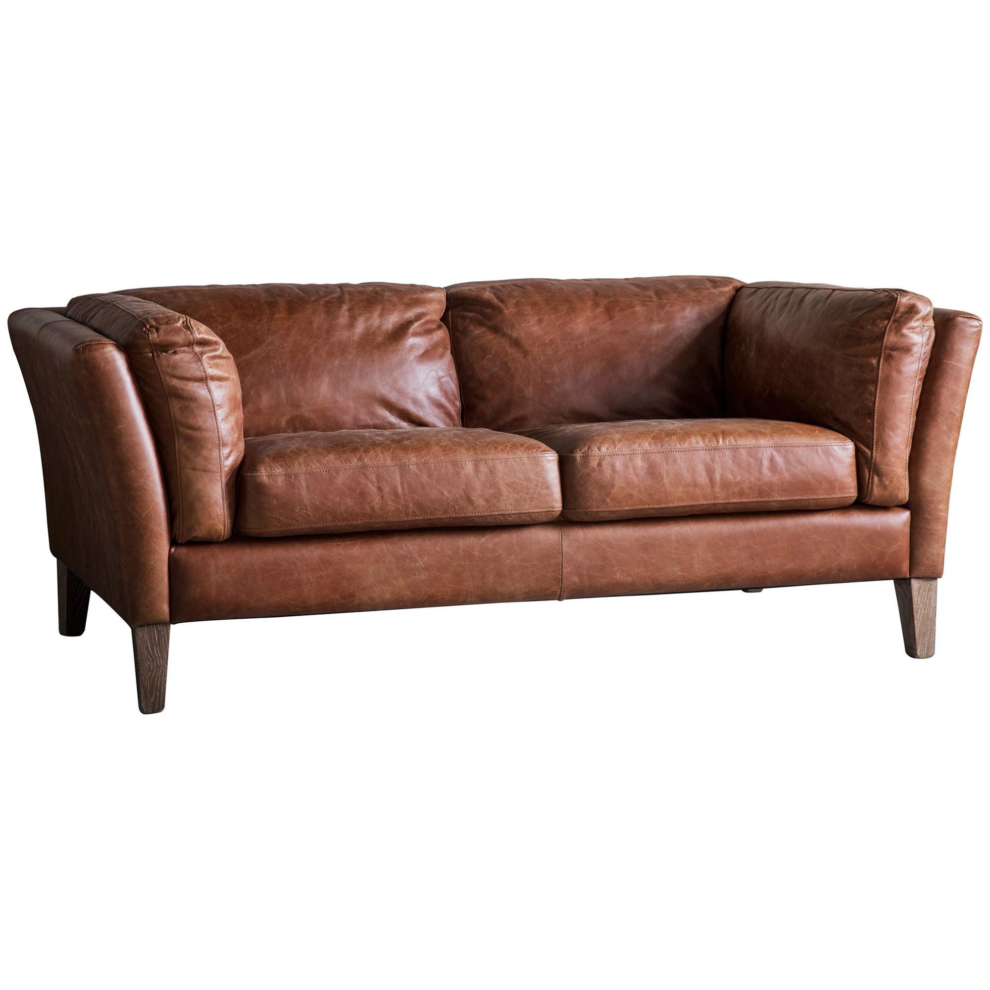 Ebury Vintage Leather 2 Seater Sofa