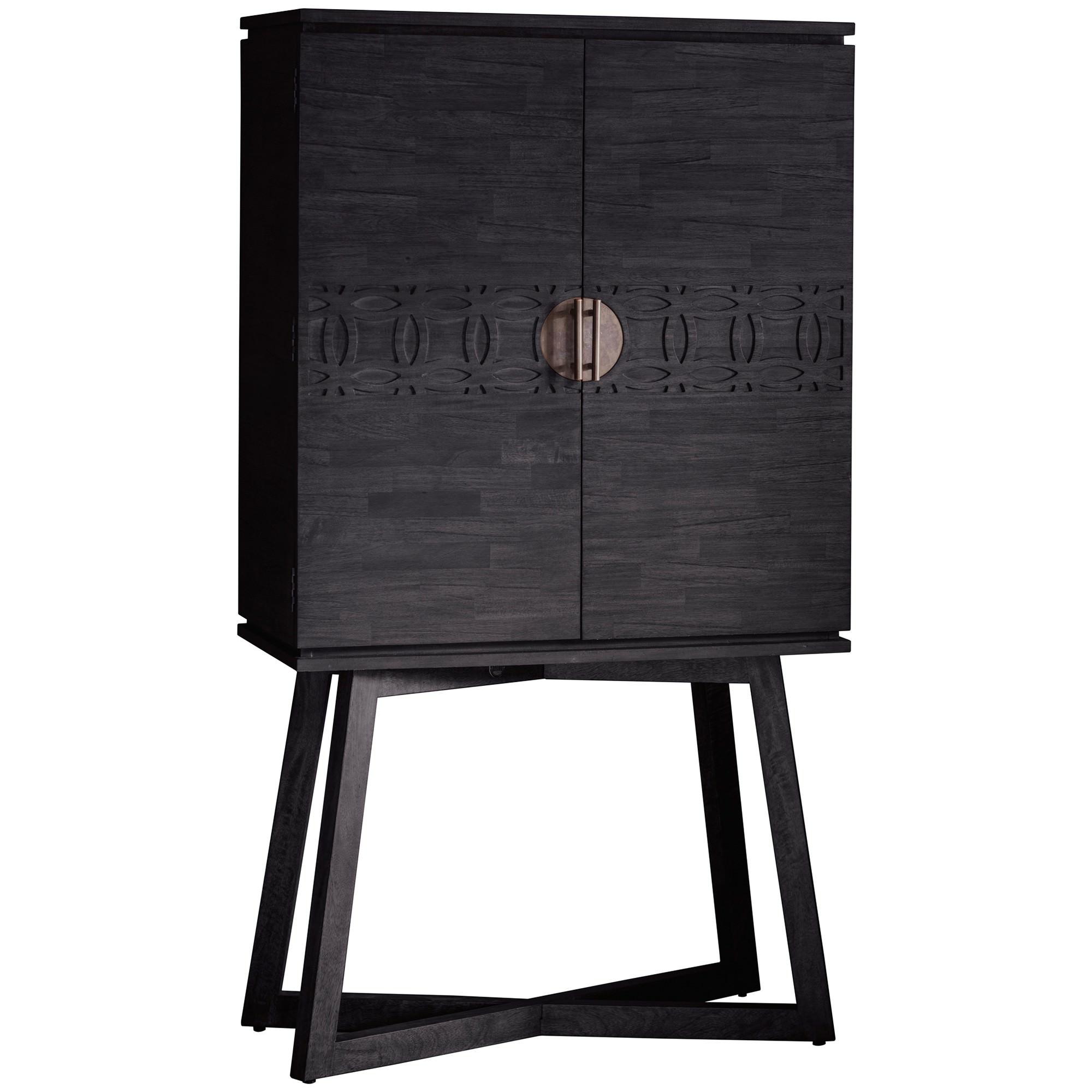 Baila Boutique Mango Wood 2 Door Cocktail Cabinet
