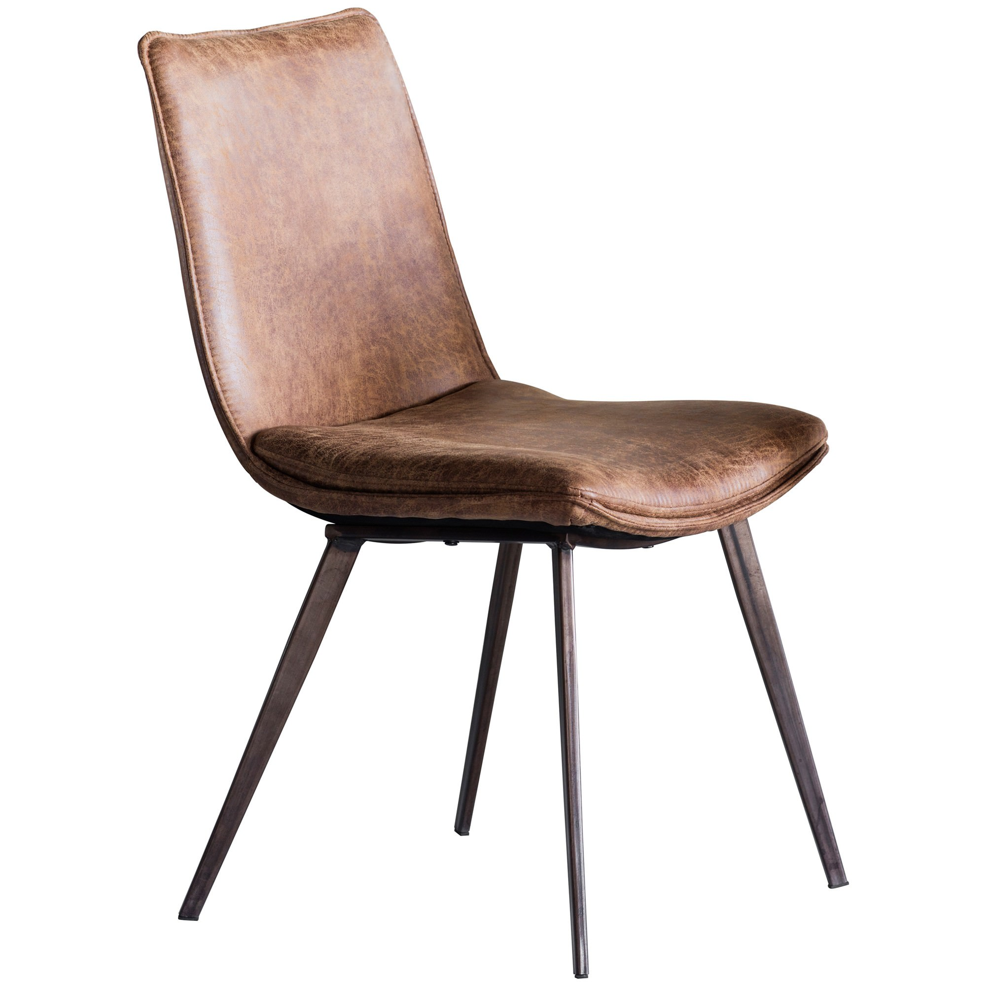 Henrik Faux Leather Dining Chair, Set of 2, Tan