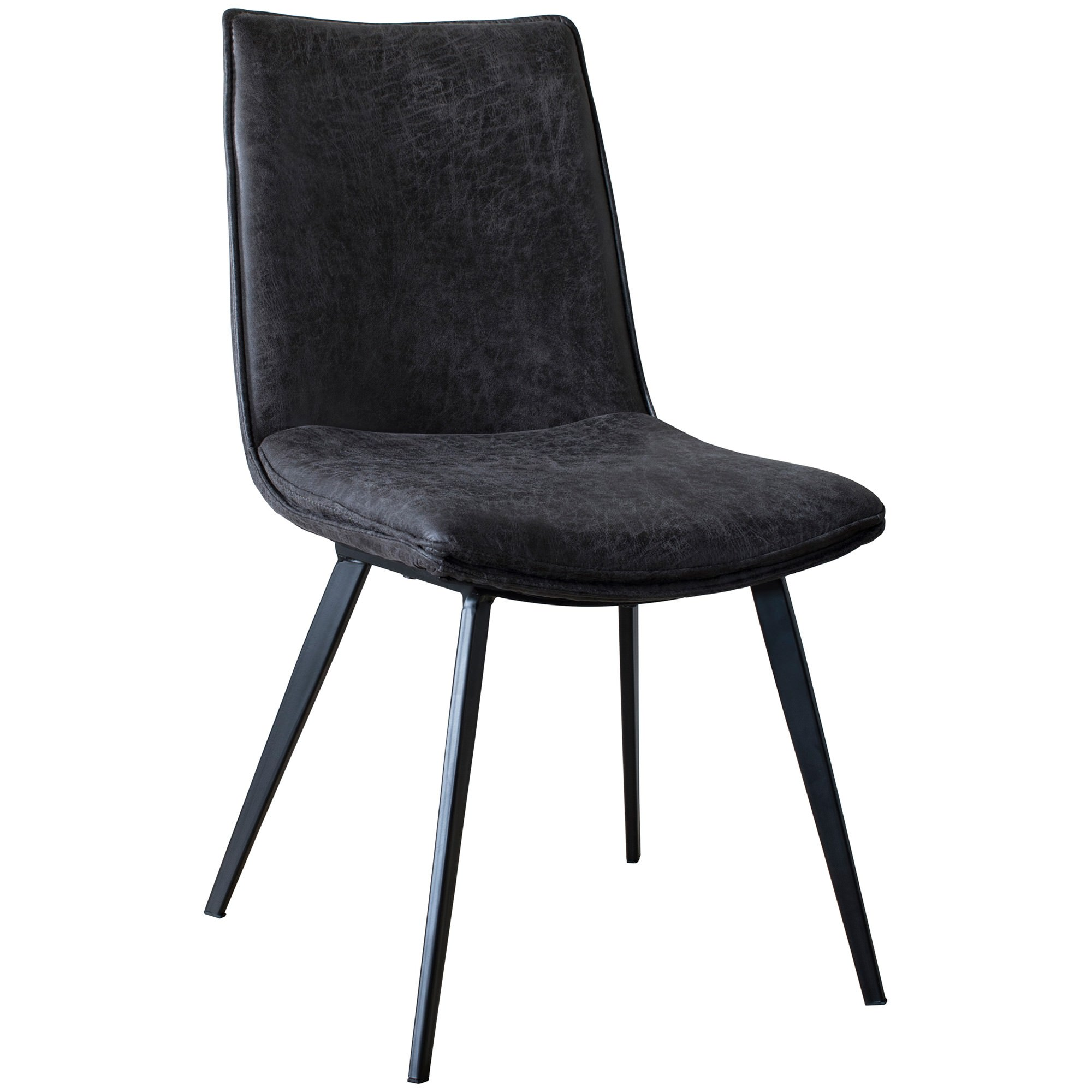 Henrik Faux Leather Dining Chair, Dark Grey