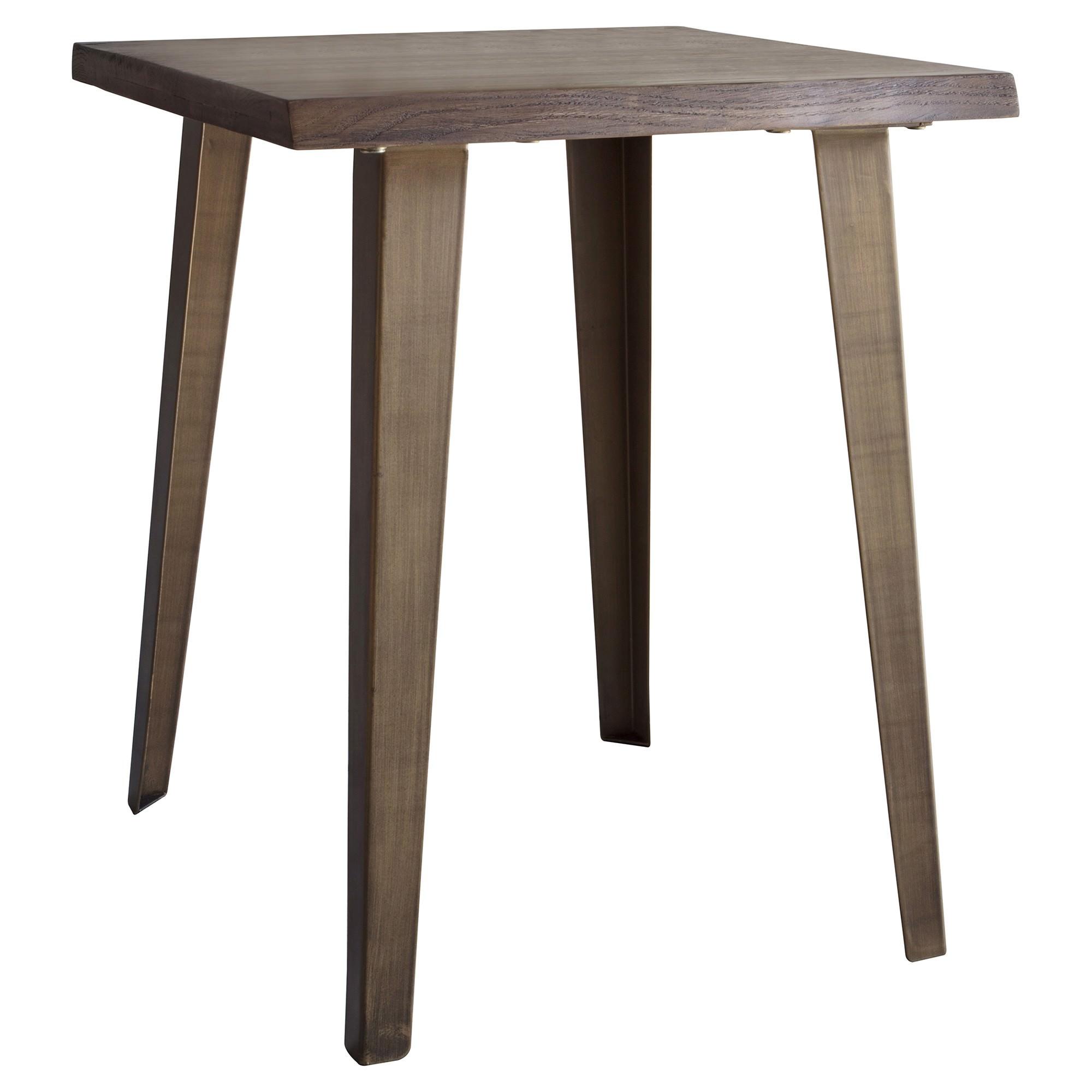 Fabia Oak Timber & Metal Side Table