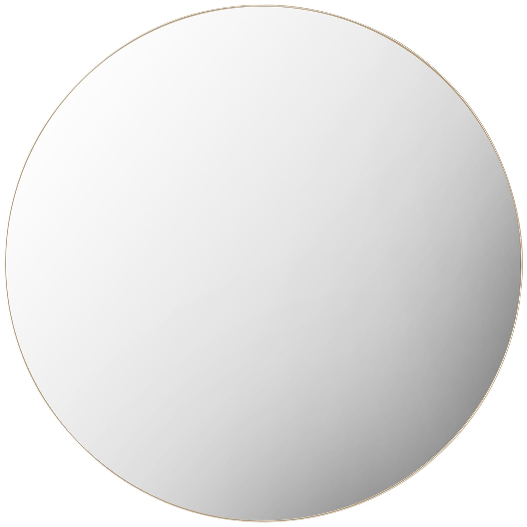 Harlow Metal Frame Round Wall Mirror, 100cm, Champagne
