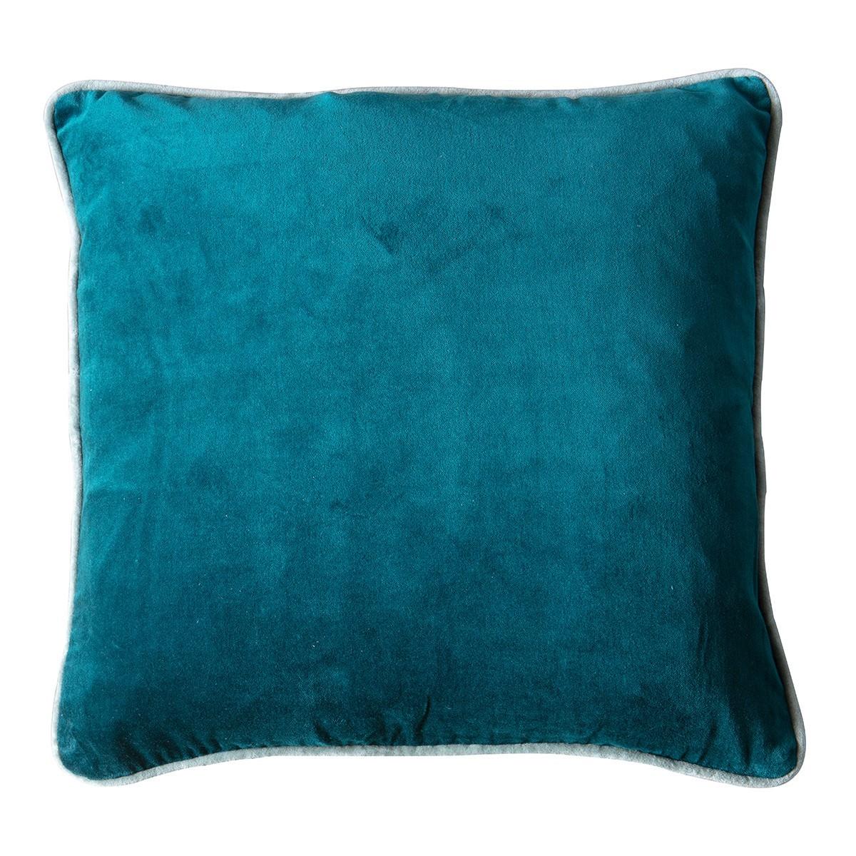 Eliza Feather Filled Velvet Scatter Cushion, Teal
