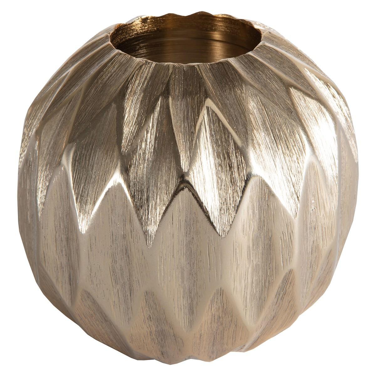 Kinto Diamond Ball Tealight Holder, Small, Gold