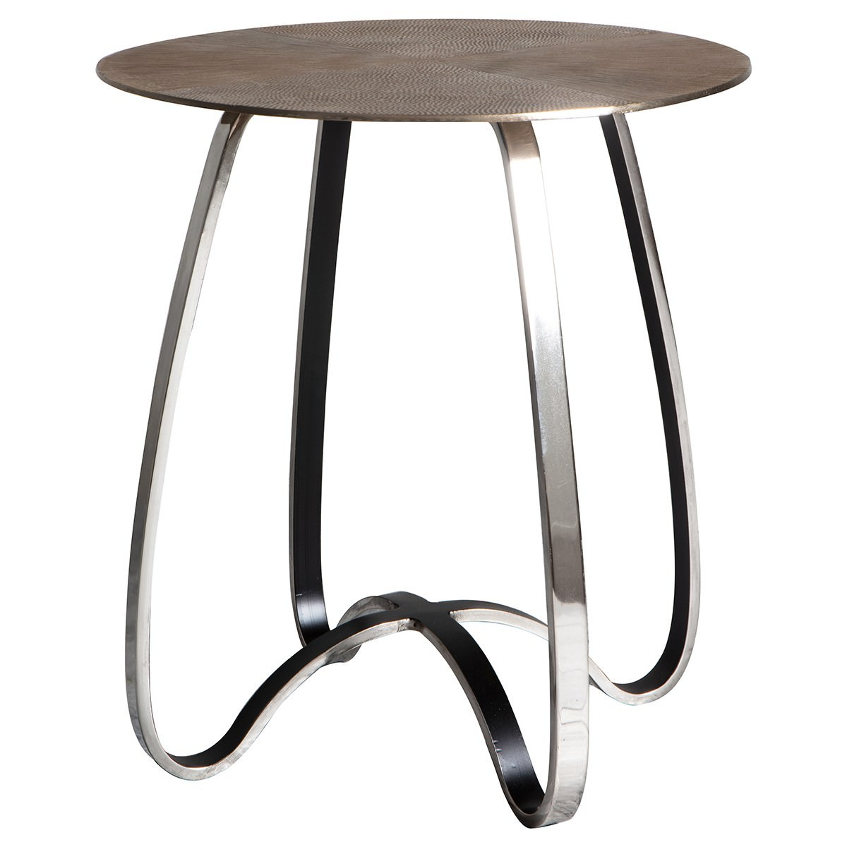 Carter Metal Side Table, Small, Antique Gold Top