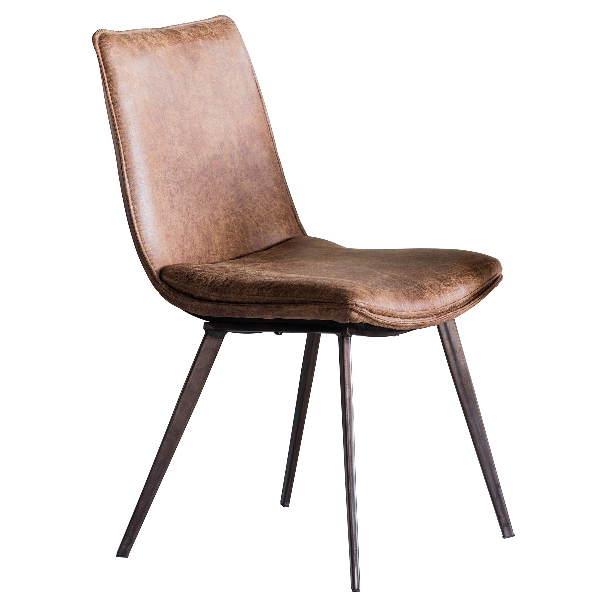 Henrik Faux Leather Dining Chair, Tan