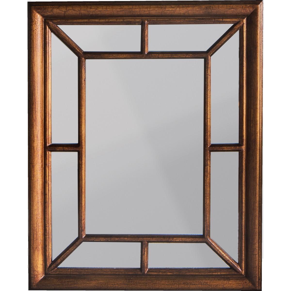 Chisholm Wooden Frame Wall Mirror, 87cm, Bronze