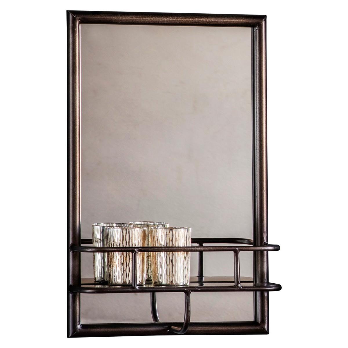Macey Iron Frame Wall Mirror, Rectangle, 48cm