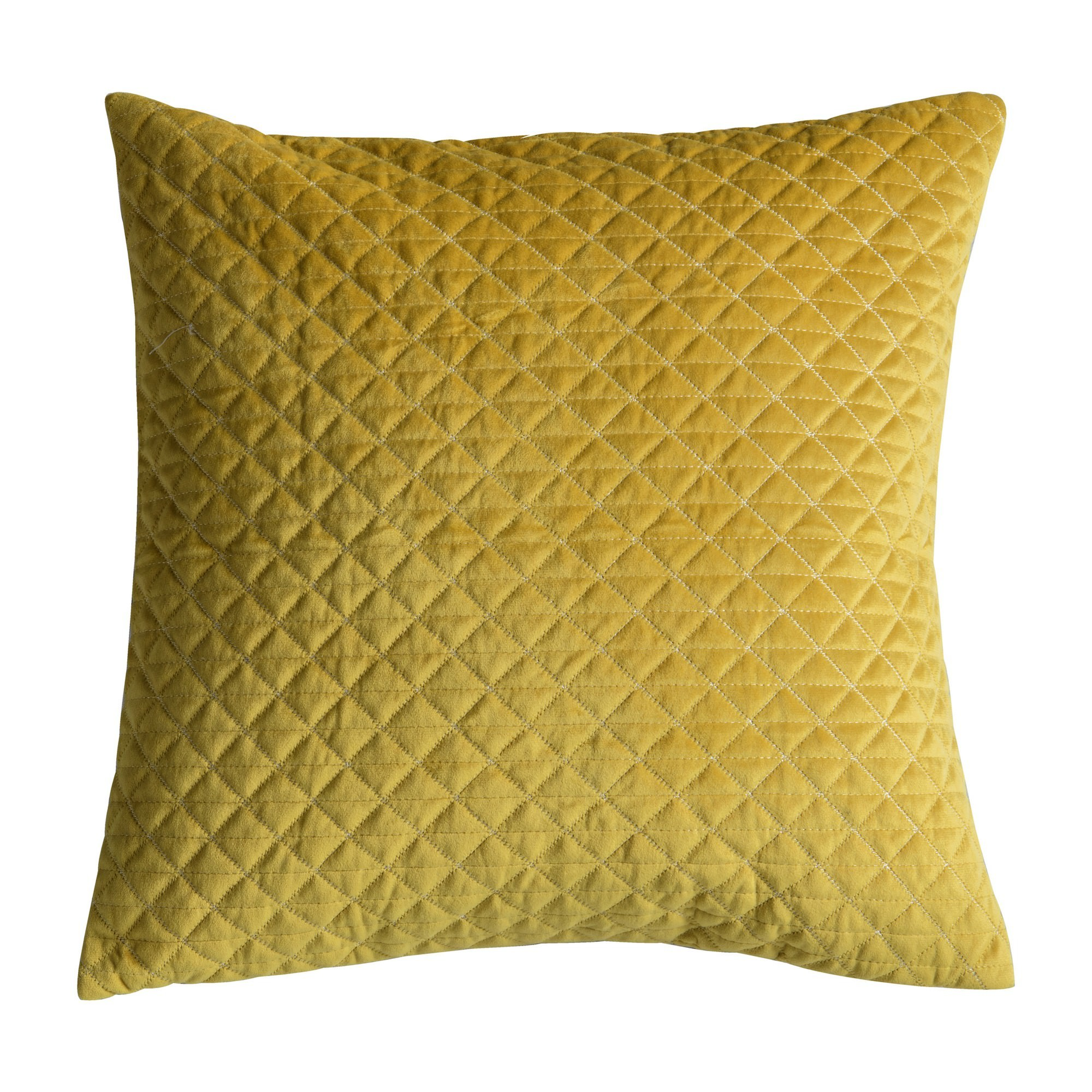 Javier Quilted Feather Filled Scatter Cushion, Ochre