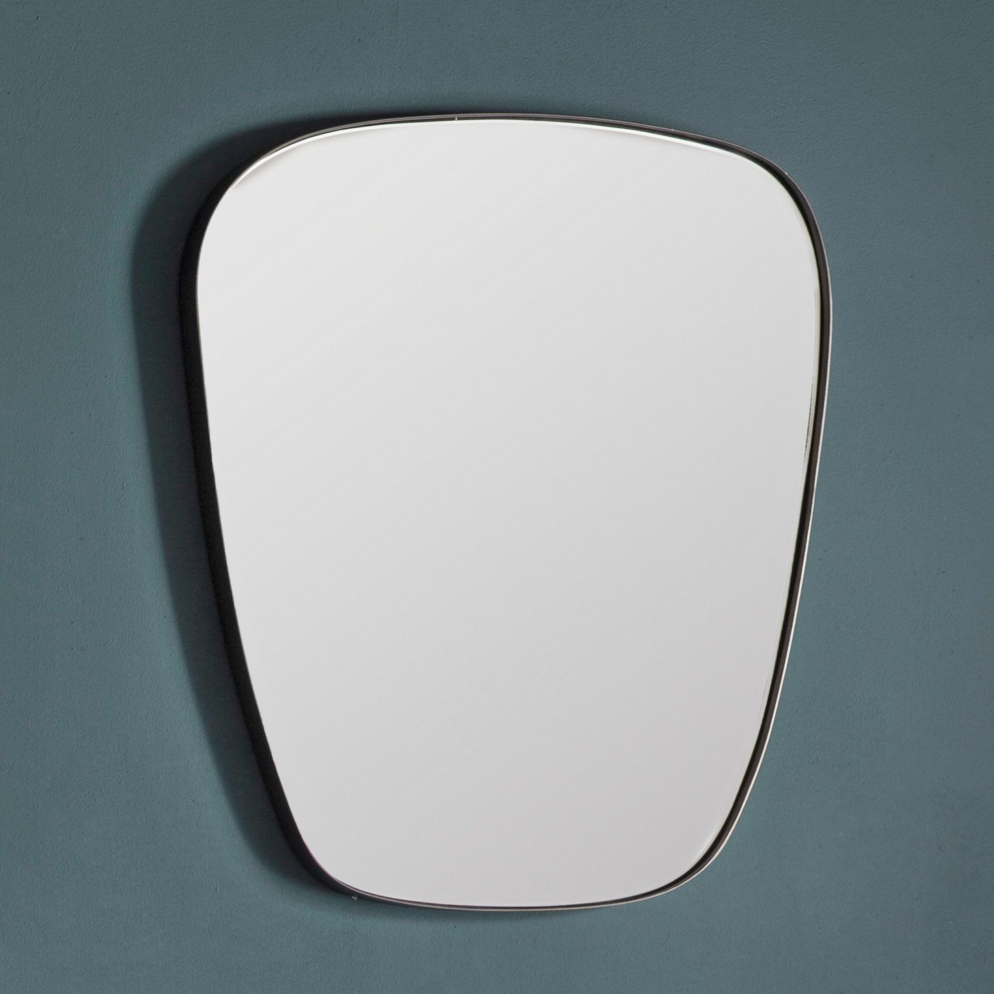 Ansa Iron Frame Wall Mirror, 76cm