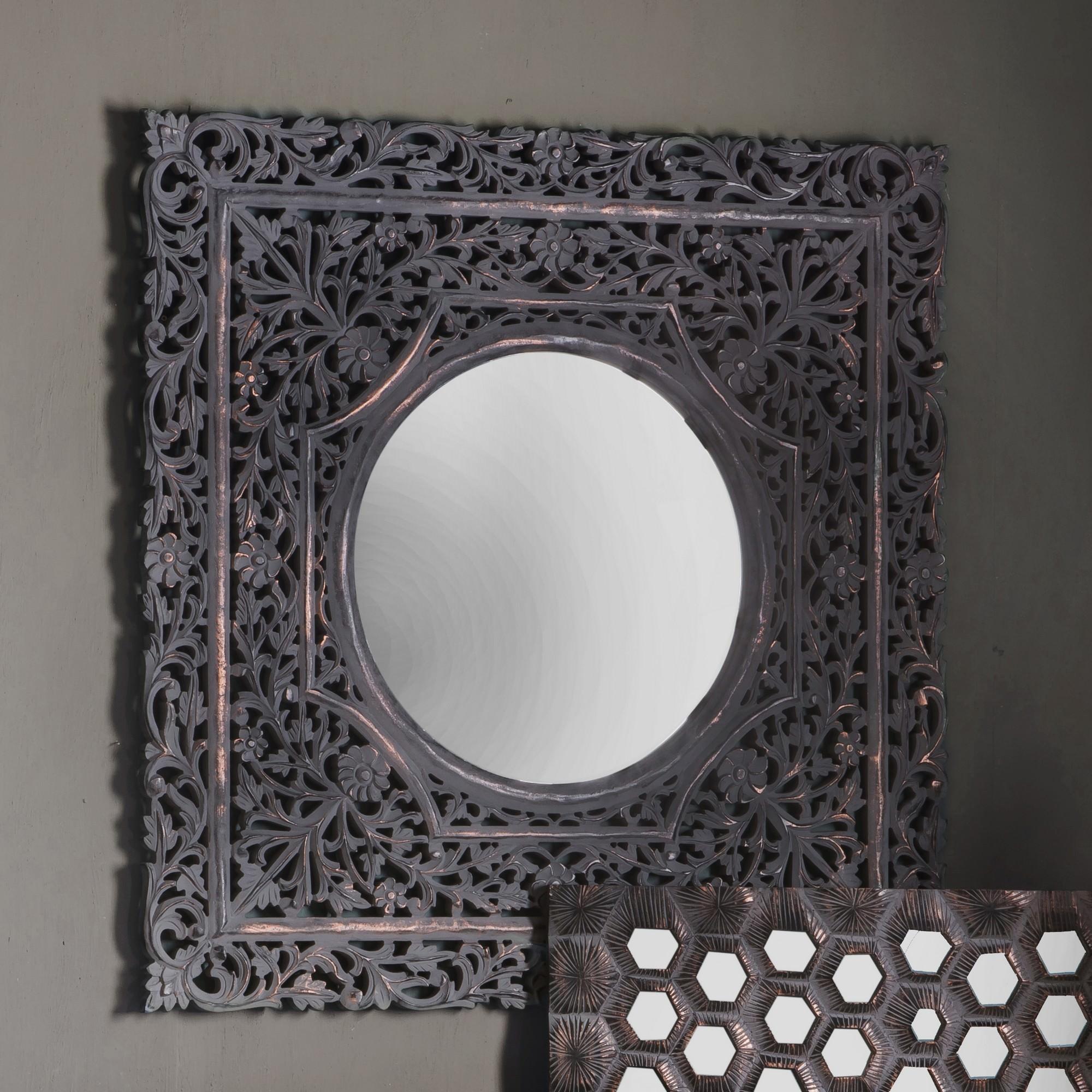 Koya Square Wall Mirror, 120cm