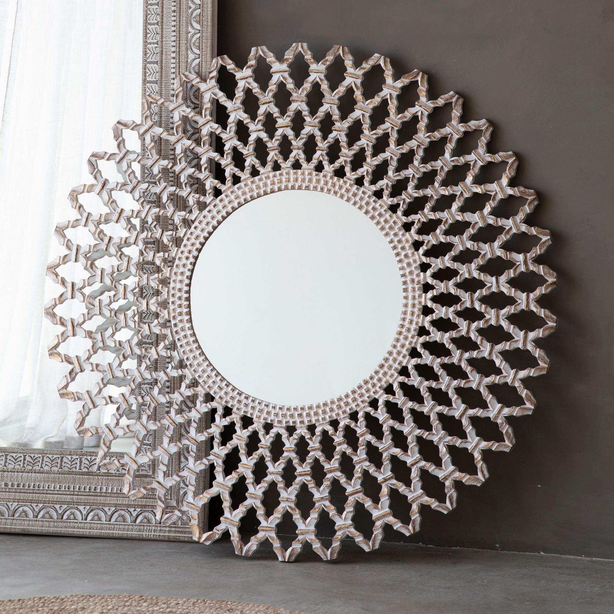 Bruno Round Wall Mirror, 120cm