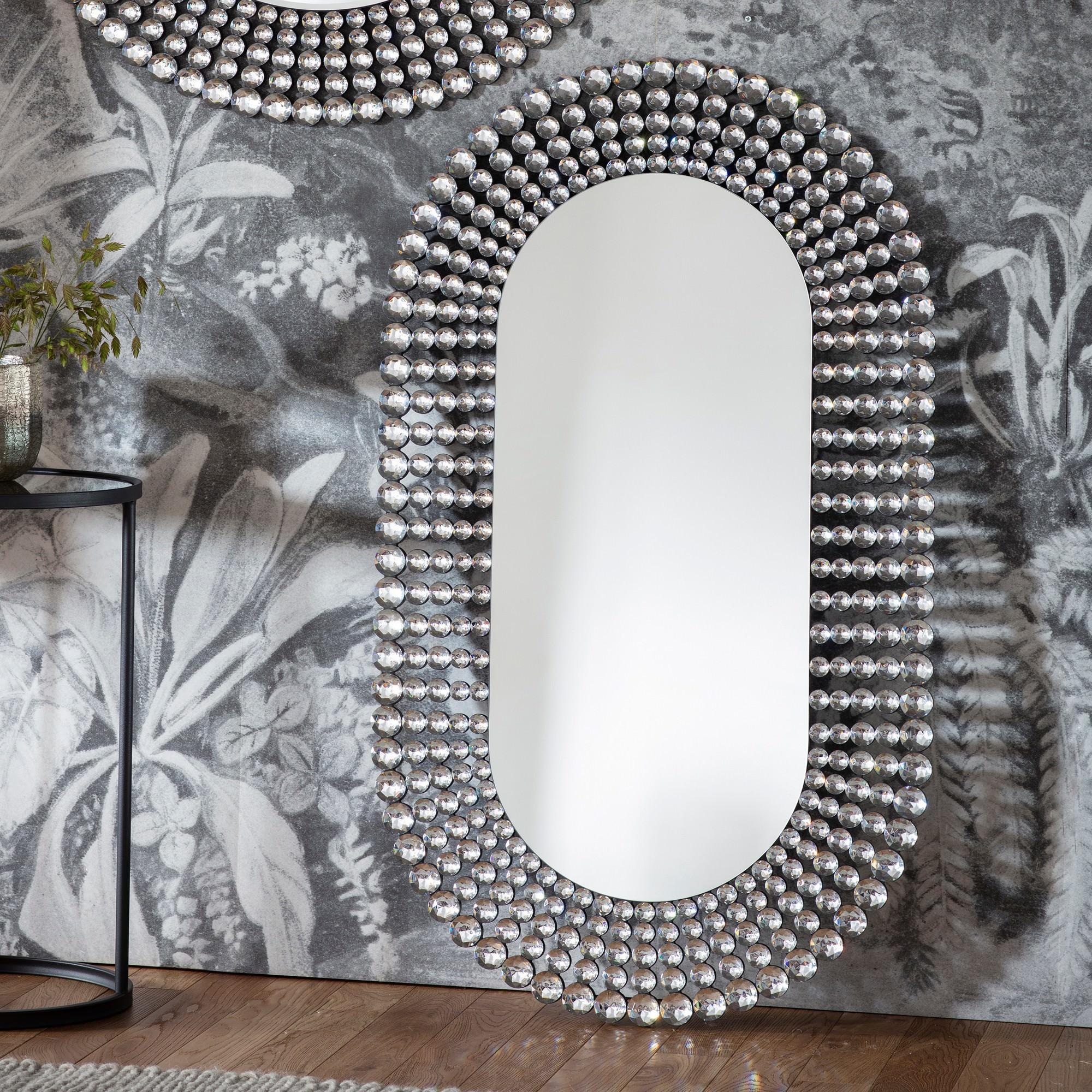 Shaya Oval Wall Mirror, 120cm
