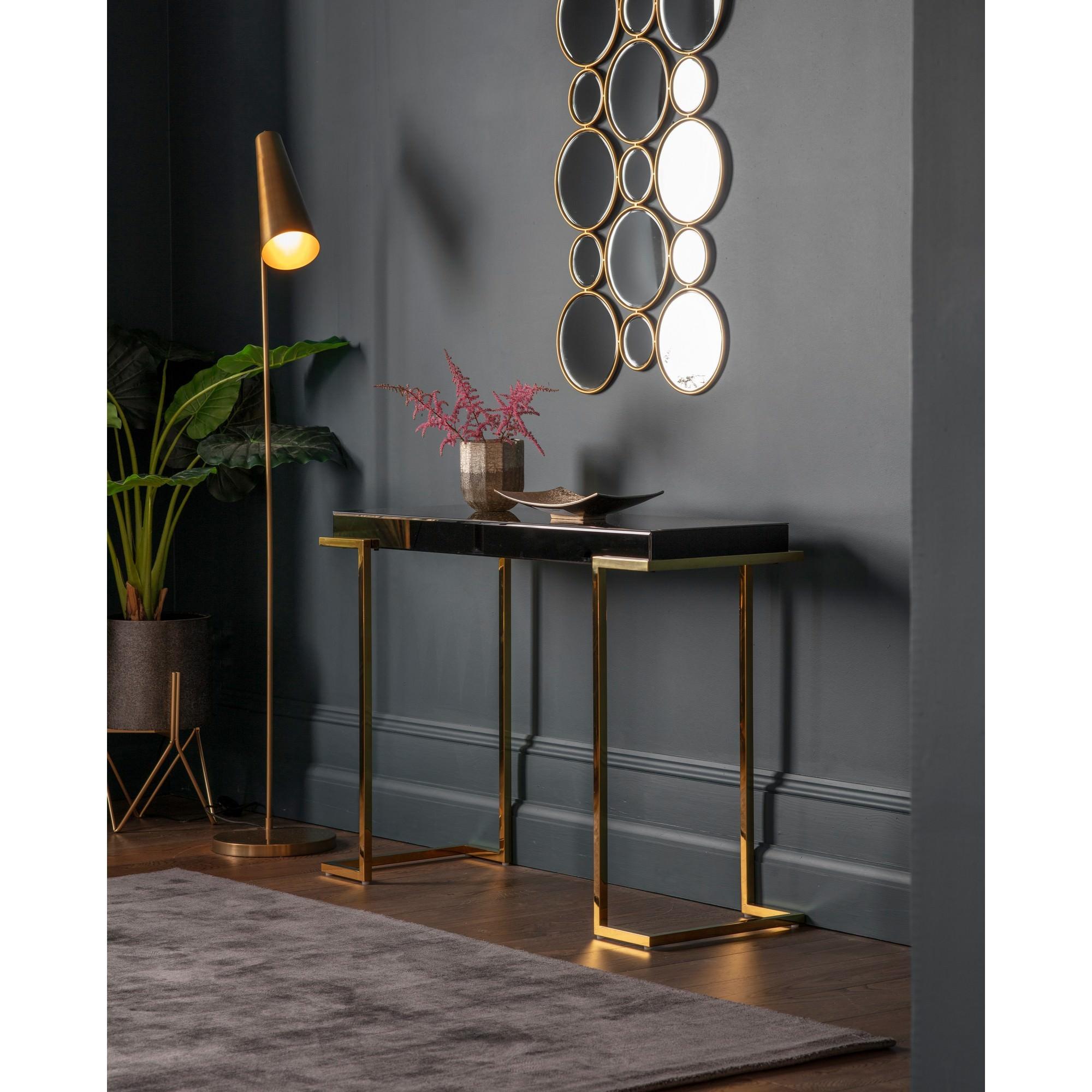 Daffey Mirrored Console Table, 117cm