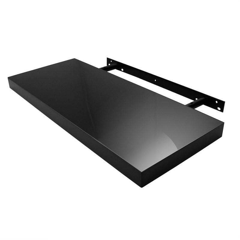 High Gloss Floating Shelf in Black