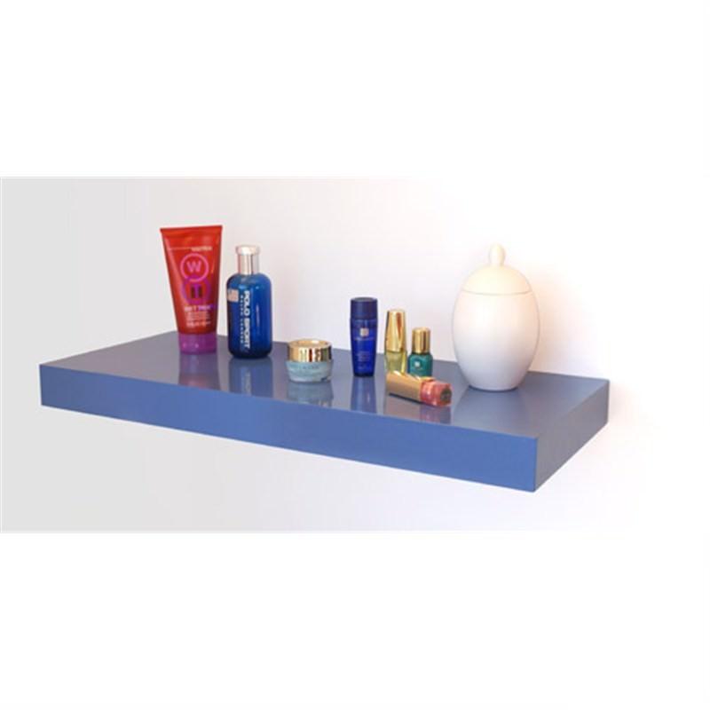 High Gloss Floating Shelf in Blue