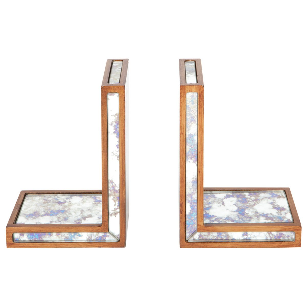 Catrall Antique Mirrored Bookend Set