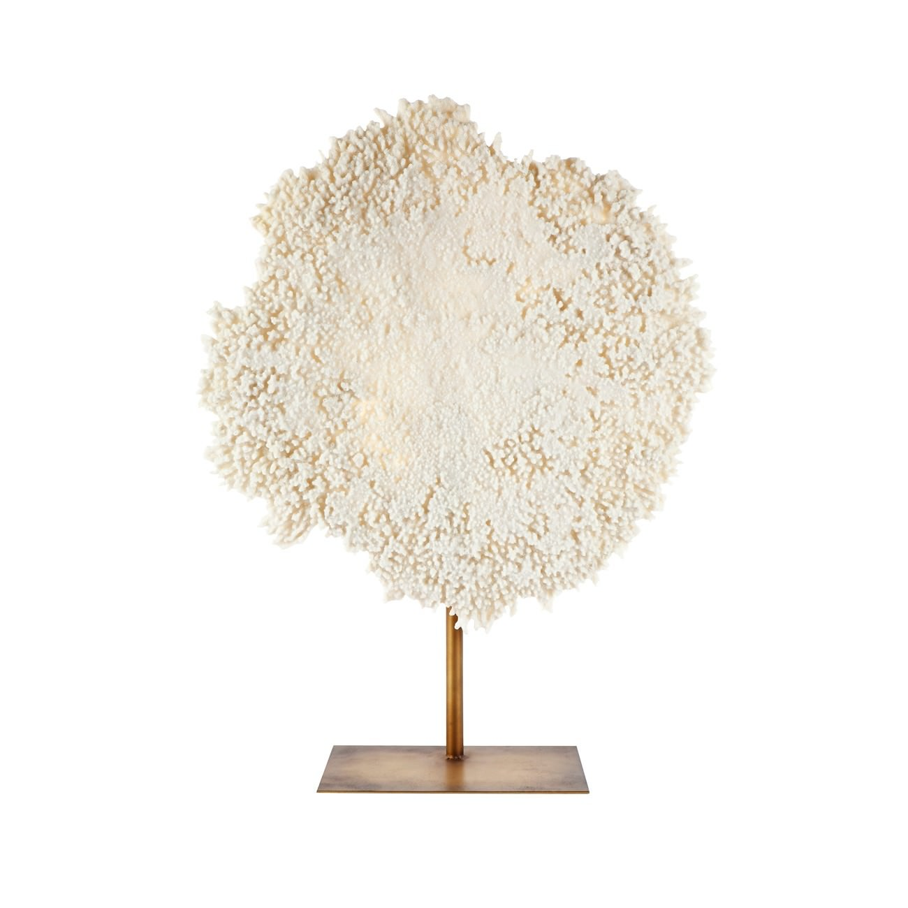 Palm Cove Coral Sculpture, Large, White