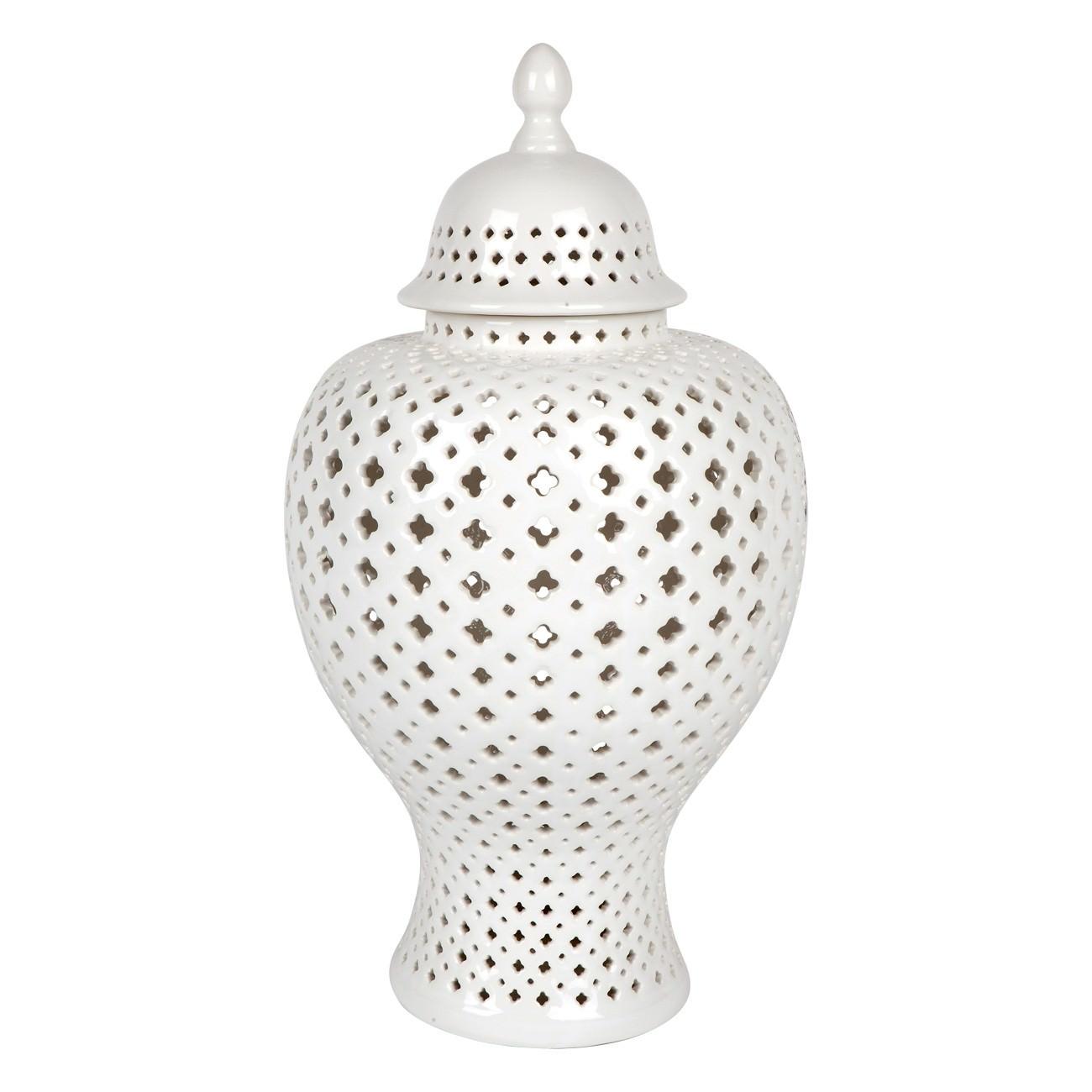 Minx Porcelain Temple Jar Large White Large Only